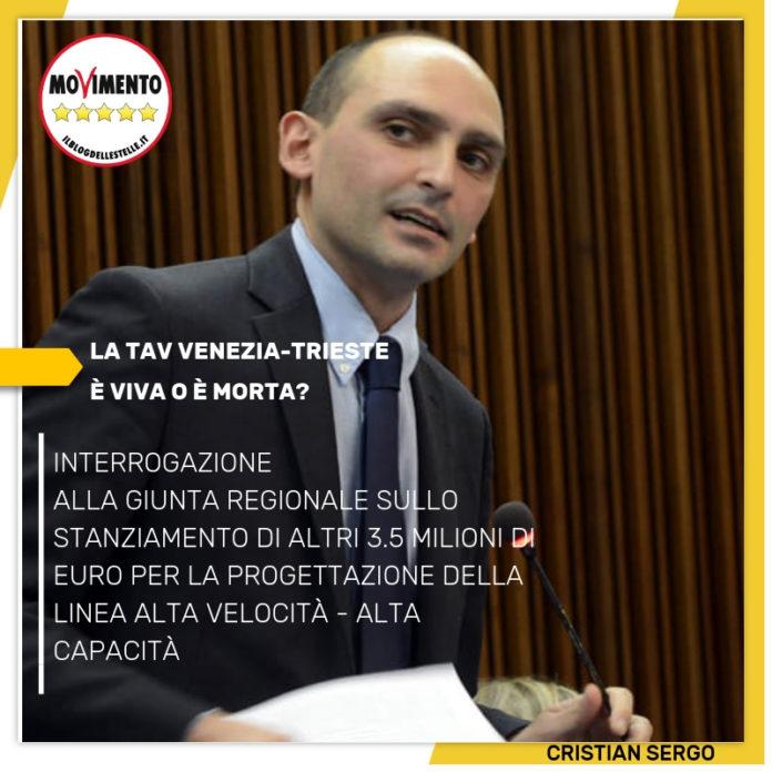 Sergo – Interrogazione finanaziamento  linea ferroviaria AV/AC venzia Trieste - m5stelle.com - notizie m5s