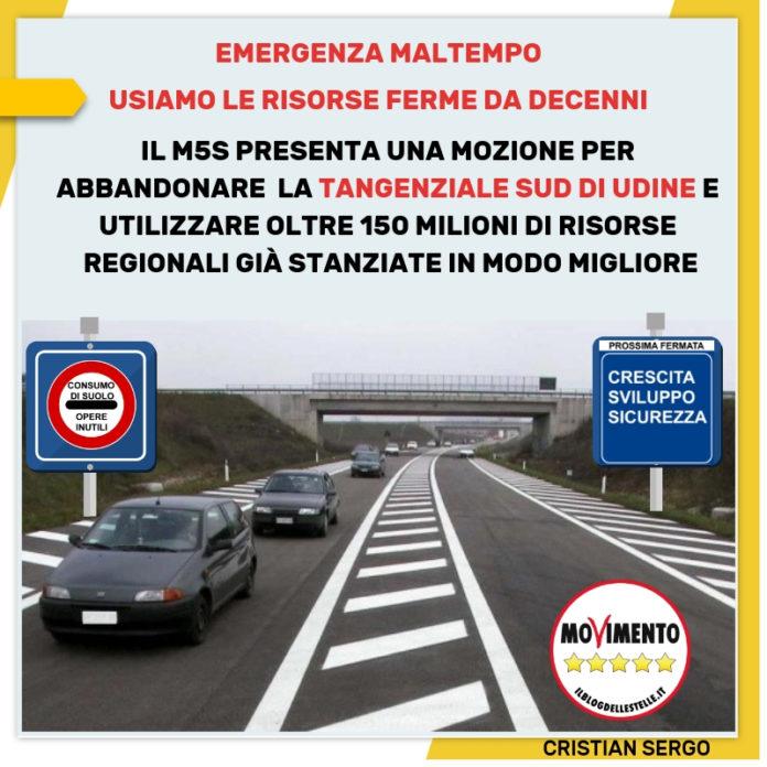Sergo: emergenza maltempo, prima di indebitarsi si utilizzino le risorse ferme da decenni per opere inutili - m5stelle.com - notizie m5s